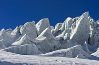 Blocks of glacial ice, seracs, of the Feegletscher glacier, Saas-Fee, Valais, Switzerland