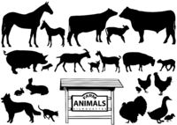 Farm Animals Silhouettes.eps