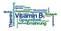 Word Cloud on a white background - Vitamin B1 (German)