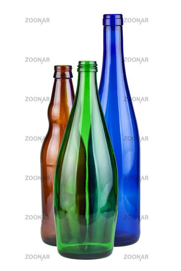 Three empty bottles