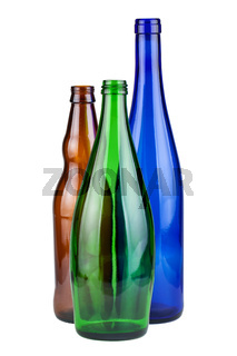 Three empty bottles