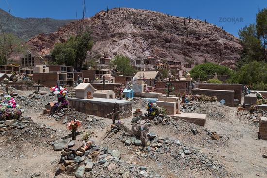 Cemetery in Purmamarca, Argentina