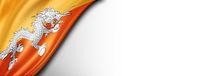 Bhutan flag isolated on white banner