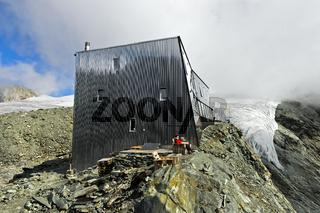 Berghütte Cabane de Tracuit, Val d'Anniviers, Wallis, Schweiz