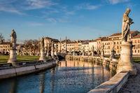 padua, italy - mar 19, 2019 - historic square prato della valle