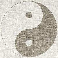 zeichen symbol yin yang leinwand konzept