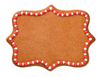 Christmas Gingerbread Cookie In Shape Of Label