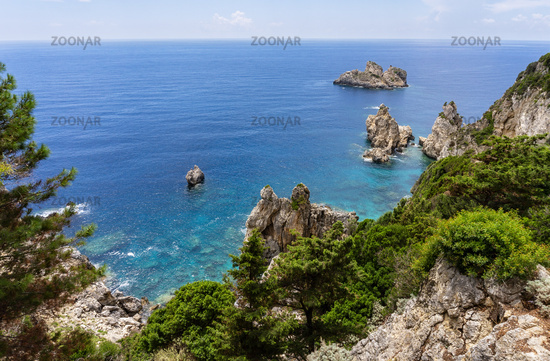 Picturesque bay on Corfu