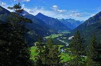 Lech valley, Lechtal alps, Austria, Tyrol,