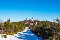 Winter im Erzgebirge am Fichtelberg in Oberwiesenthal