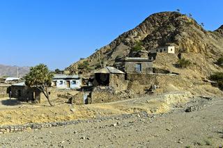 Einfache Tigraianische Wohnhäuser aus Stein