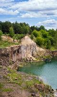 Drowned in flooded basalt querrie excavator