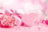 Valentine day gift and dessert
