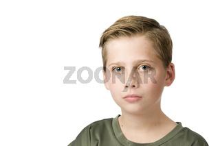 Blick eines männlichen Teenagers