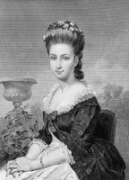 Sarah Van Brugh Livingston (1756-1802) on engraving from 1873. Wife of the first chief of justice of the USA. Engraved by unknown artist and published in ''Portrait Gallery of Eminent Men and Women with Biographies''