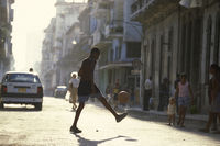 CUBA HAVANA CITY STREET SOCCER