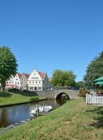 Friedrichstadt in North frisia,Schleswig-Holstein,Germany