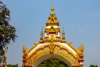 Decoration on the gate of Wat Khu Kum