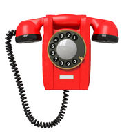 3d red phone.