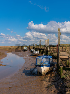 Boats in Thornham Old Harbour, Norfolk, England
