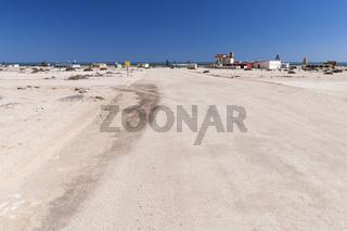Dorf am Trans-Kalahari Highway