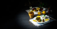Dolmades - stuffed grape leaves the Greek way