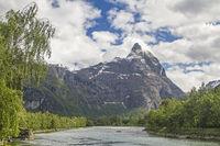 Romsdalhornet - landmark of the Rauma Valley