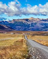 The road to the glacier Perito Moreno