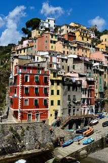 Traditional Mediterranean architecture of Riomaggiore