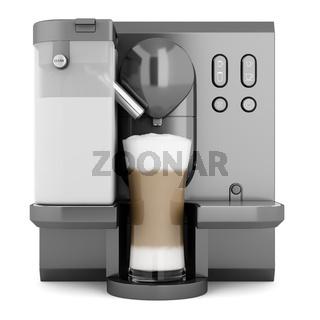 modern black coffee machine isolated on white background