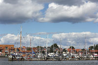 Sailing boats in the marina of Maasholm on the Schlei