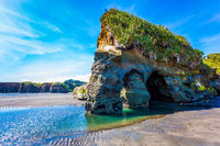 Powerful coastal rocks and arches