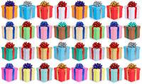 Weihnachten Geschenke Geschenk Geburtstag Hintergrund Sammlung Collage schenken isoliert freigestellt