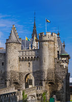 Steen castle in Antwerp Belgium