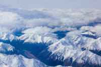 View over Southern Alps in New Zealand