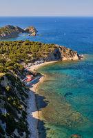 Aerial photography Javea costline Costa Blanca. Spain