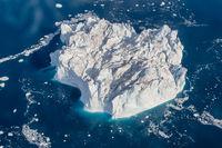 Greenland Ilulissat color glaciers sea ocean fjord from heaven