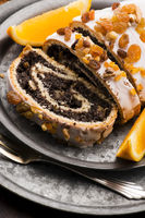 Poppy seed rolls, dessert for christmas