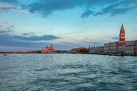 The view of venetian lagoon in morning