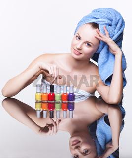 Woman with nail varnish