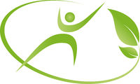 Person, leaves, exercise, fitness, logo, icon