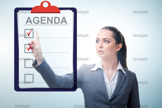 Businesswoman preparing the agenda for meeting