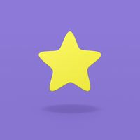 One Star on Blue Background