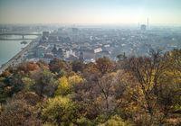 Beautiful landscape above historical part of Budapest, Hungary.
