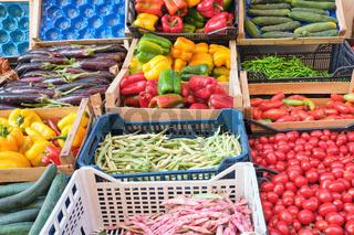 Frisches Gemüse auf einem Markt