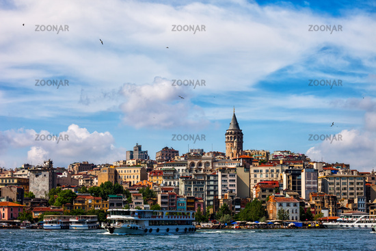 Istanbul City Skyline From Golden Horn