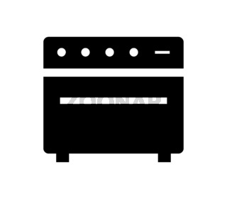 guitar amplifier icon illustrated in vector on white background