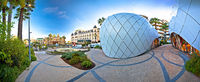 Place Casino square in Monte Carlo panoramic view