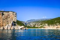 Cala Luna beach in Orosei Golf, Sardinia, Italy
