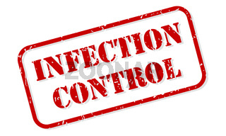 Infection Control Rubber Stamp Vector